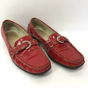 AK Anne Klein Red Patent Leather Loafer